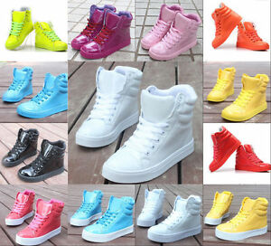 Womens-High-fashion-Candy-color-cute-sweet-Hip-hop-sport-shoes-boots-Sneakers-04