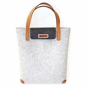 Filztasche-Damen-Freizeittasche-aus-Filz-LuckySign-Grau