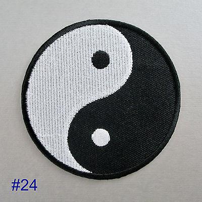 Om / Magic Mushroom / Yin Yang Iron-on Patch Badge aum ohm tao hippy psychedelic