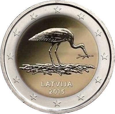 Moneta 2 euro commemorativa LETTONIA 2015 FDC