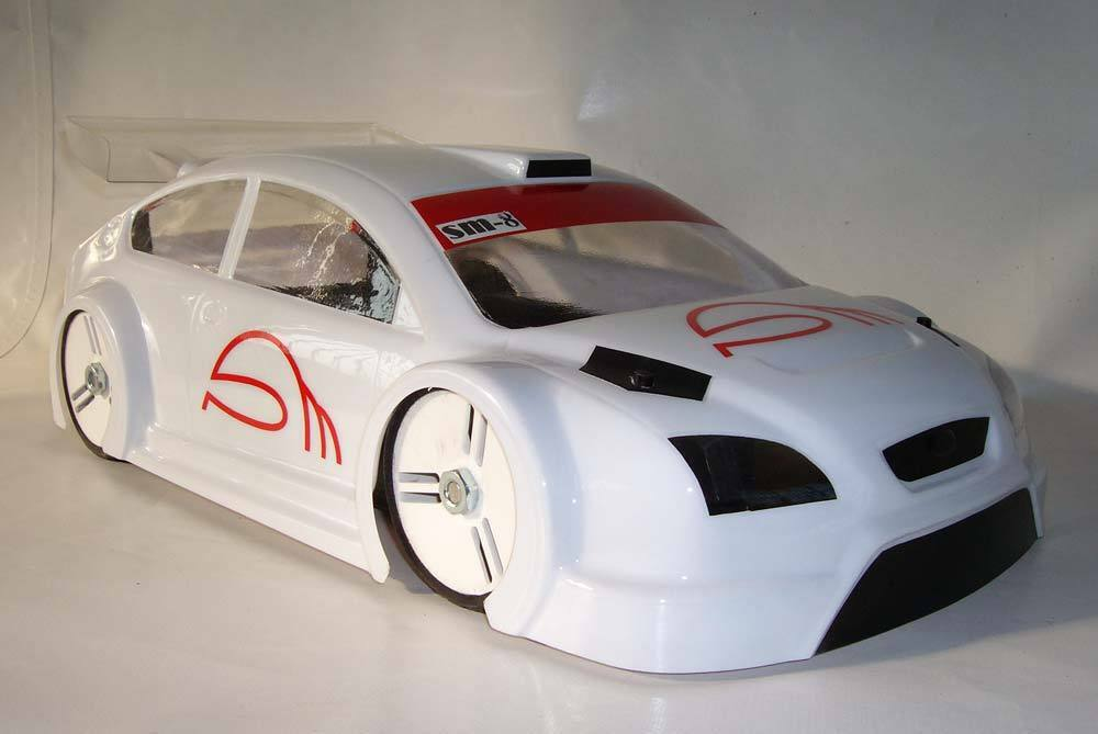 SM8 1 8 RS ST RC Car Car Car body BYSM Hobao Kyosho GT Serpent Traxxas Slash d767b6
