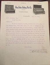 1906 KING SETTE FOLDING BED CO.  Louisville, KY Letterhead