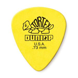 New Tortex Dunlop Standard Guitar Picks .73mm Pack Yellow Flex .73 418p.73 black