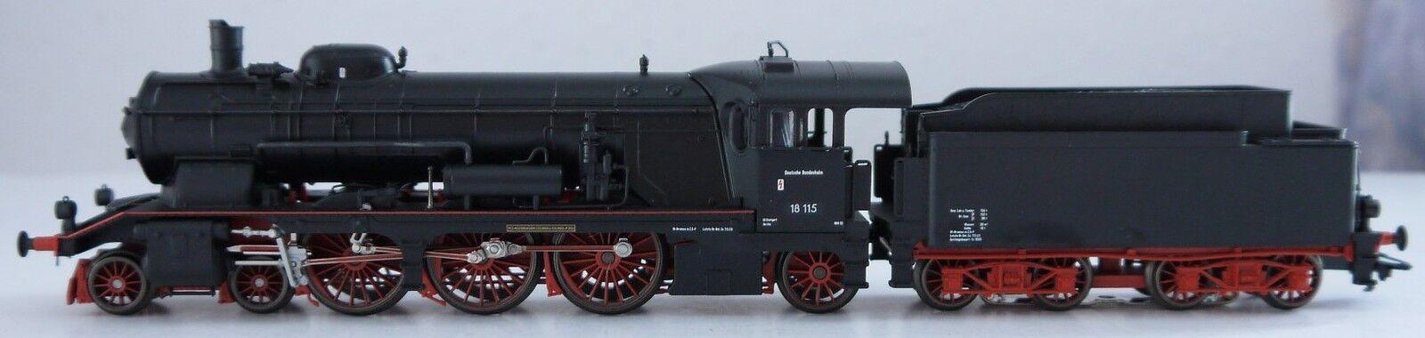 37115 locomotiva a vapore serie siano 18.115 - DIGITALE-Spur HO-CASSETTA LEGNO