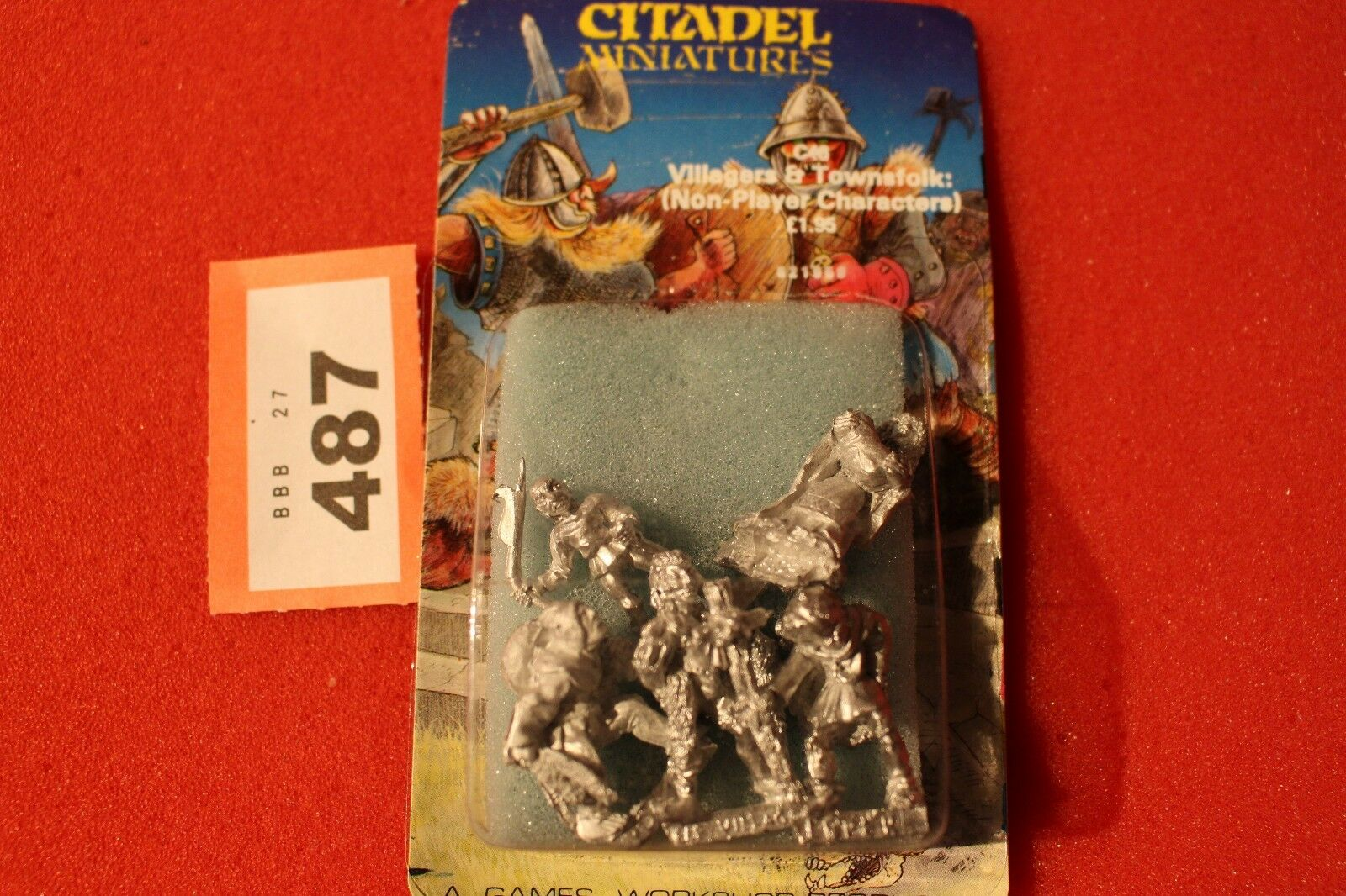 Citadel C46 Villagers Townsfolk 5x Metal Figures Games Workshop Warhammer 80s Q