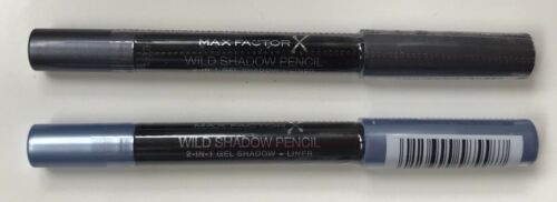 MAX FACTOR 2 Shades Wild Shadow Pencil 2in1 Gel Eyeshadow And Liner RRP$32 New