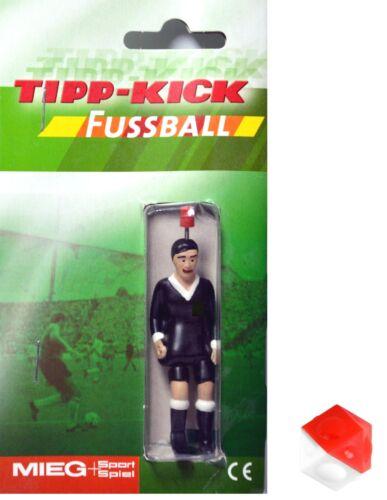 Tipp-kick líneas juez jugador kicker con pelota rojo Weiss Tip kick linesman