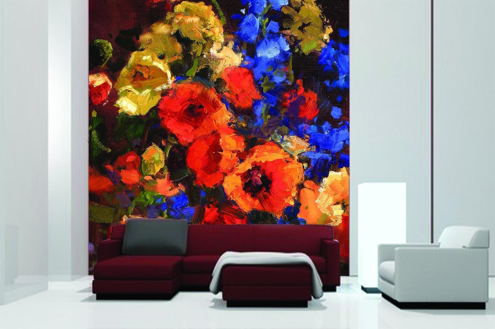 3D Petal Painted 60 Wallpaper Murals Wall Print Wall Mural AJ WALL AU Summer