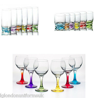 Colored drinking glasses SET 18 PCS!!!! wine highball tumblers cocktail PARTY!!