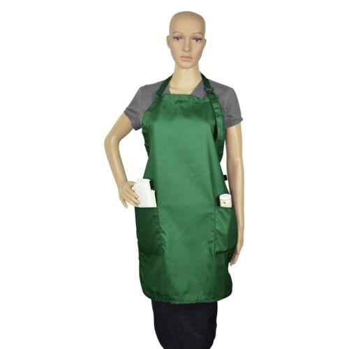 2 Pockets DALIX Apron Commercial Restaurant Bib Cotton Kitchen Aprons 12 Pack