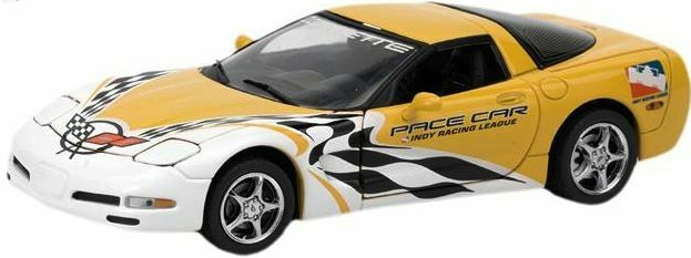1/24 Franklin Mint Yellow 2002 Corvette Indy League Pace Car Coupe S11E684