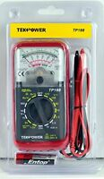 Tekpower Tp188 Pocket-size Analog Multimeter With Built -in Test Leads With Prot