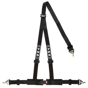 TRS Clubman 3 Point Harness BLACK (Snap Hook) - Road Legal ECE Approved (Saloon)
