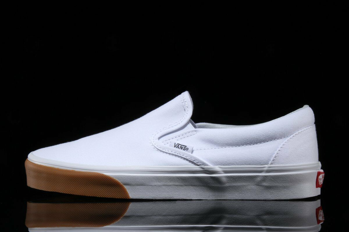 Vans Slip On true white gum bumper!