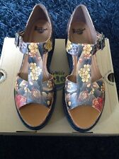 Womens Dr Martens Adaya Tan Tattoo Wedge Platform Limited Edition Sandals UK 7