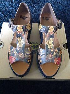 Détails sur Bottines Femme Dr Martens Adaya Tan Tatouage compensées plateforme édition limitée sandales UK 7 afficher le titre d'origine
