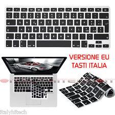 COVER SILICONE COPRI TASTIERA X APPLE MACBOOK PRO 13 15 VERSIONE EU TASTI ITALIA