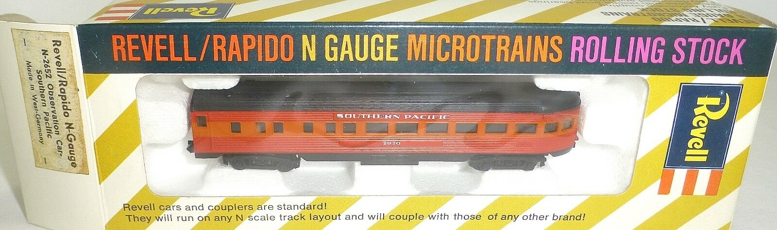 Southern Pacific Observation auto Revell Rapido Microssorains N2652 Conf. Orig.