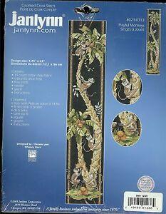 PLAYFUL MONKEYS JANLYNN #023-0313 COUNTED CROSS STITCH NEW