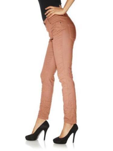 Rick Cardona Damen Chinohose Hose Chino Jeans Stretch lachs Kurzgröße 18 010586