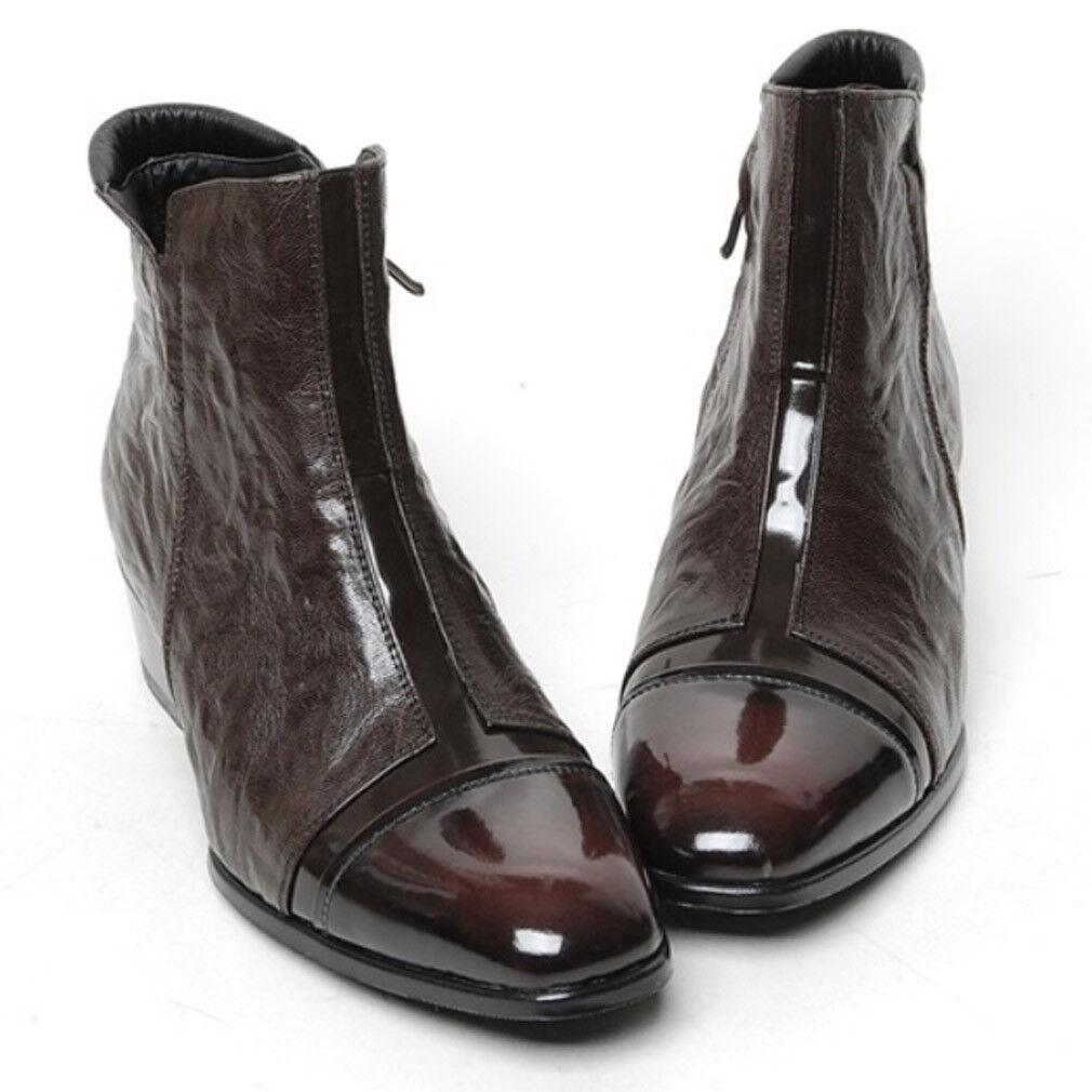 Epicsnob Mens  scarpe Genuine Cow Leather Dress Formal classico Ankle stivali  forniamo il meglio