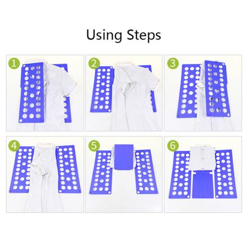 T-Shirt Clothes Folder Fast Laundry Organizer Mini Magic Children Folding Board