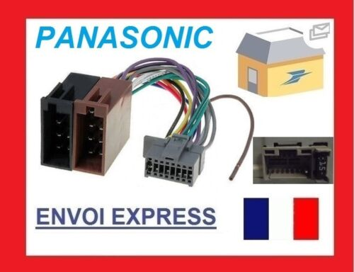 Cable Autoradio Panasonic 16PIN Vers ISO connecteur marron 1