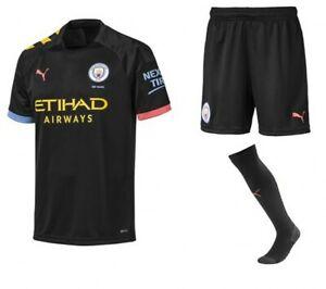 Puma Manchester City 2019//20 Away Kids Football Socks Black