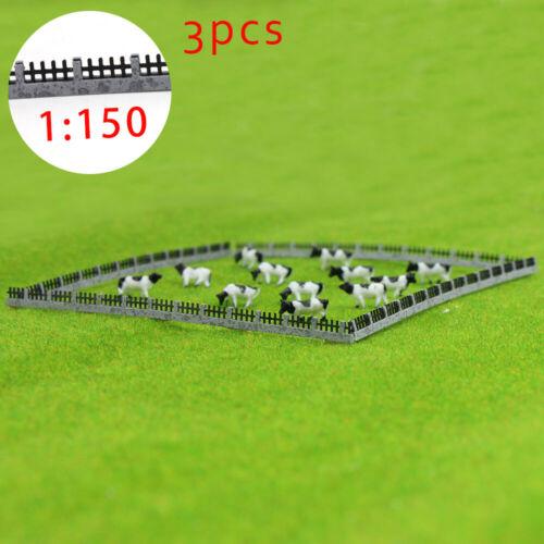 GY47150 3PCS 34.6cm Mur pour modèle chemin de fer et bâtiment 1:150 Nouveau