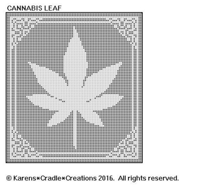 Cannabis Leaf Filet Crochet Pattern Ebay