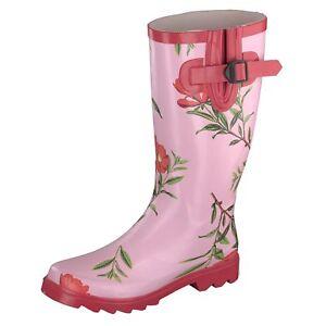 Gosch-Shoes-Sylt-Mujer-Botas-de-Goma-Cana-Alta-Agua-Fucsia-Flower