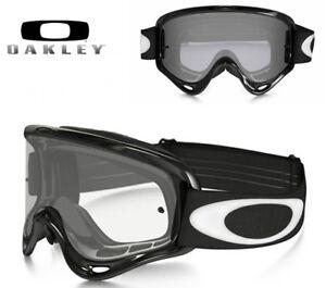 Masque OAKLEY XS O Frame Jet Black écran transparent Lunette Moto MX ... 81c574f00394