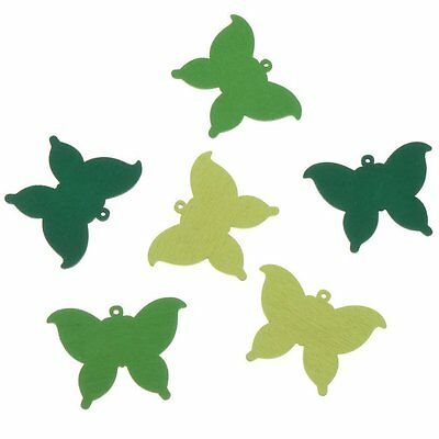 50x Mixed Color Butterfly Wooden Bottons Sewing Jewelry Crafts Sew-on Charms BS