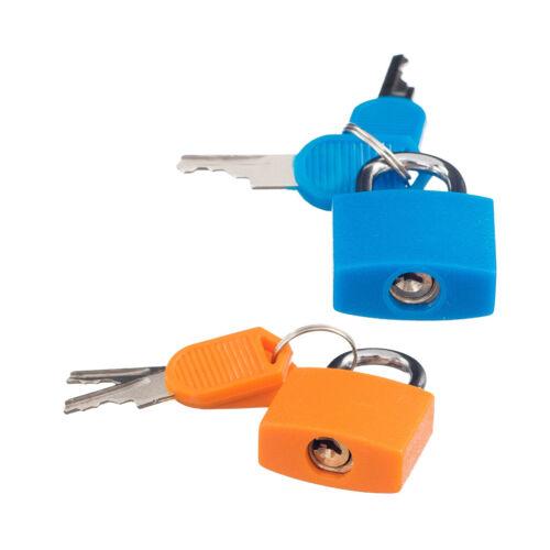 2x Padlock with 4 Keys Mini Lock for Jewelry Box Diary Book