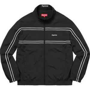 Supreme-Piping-Track-Jacket-Black-Size-Large-FW17