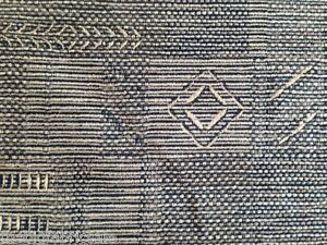 Quality Pale Gold Black Patterned Chenille Upholstery Fabric 1 2