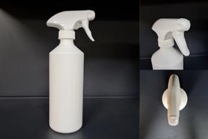 500ml HDPE Empty White Plastic Bottles Spray Bottle Trigger Pump Personalised EF