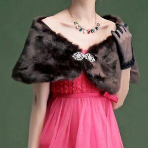 Women-Shrug-Bolero-Cape-Wrap-Shawl-Stole-Fluffy-Furry-Faux-Fur-Wedding-Banquet