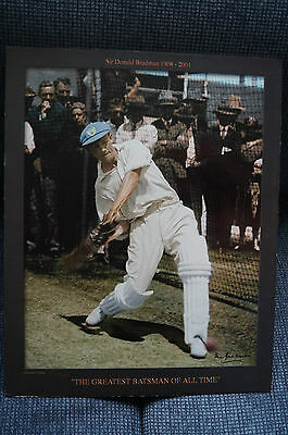 "DON BRADMAN - Limited Edition Print - ""In the Nets""  w/ COA. approx. 51cmx 41cm"