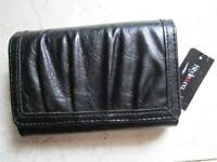 With Tags Style For Macy's Black Faux Leather Clutch Wallet With I.d Window