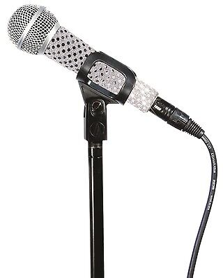 New Genuine Micfx Branded Microphone Sleeve Cover Skin - White Sequin Sensation