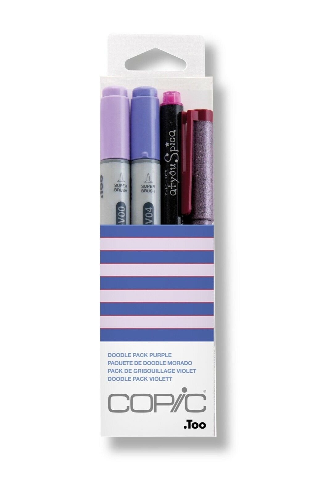 Copic Doodle Packs Purple Turquoise Red Yellow Brown Blue Pink Green