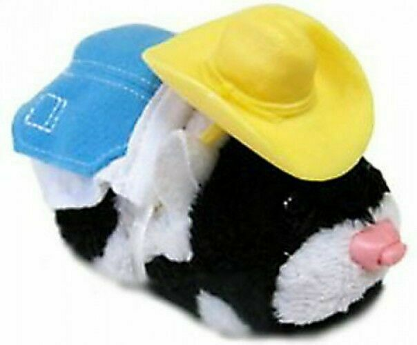 Zhu Zhu Pets Western Yellow Cowboy Hat And White Blue Vest Hamster Outfit Cepia For Sale Online Ebay