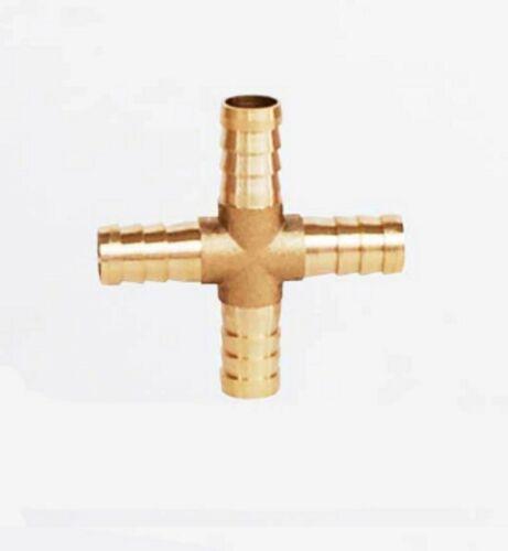 4 mm à 19 mm 4 Way Cross Brass Hose Barb Queue De Tuyau Connecteur raccord eau air