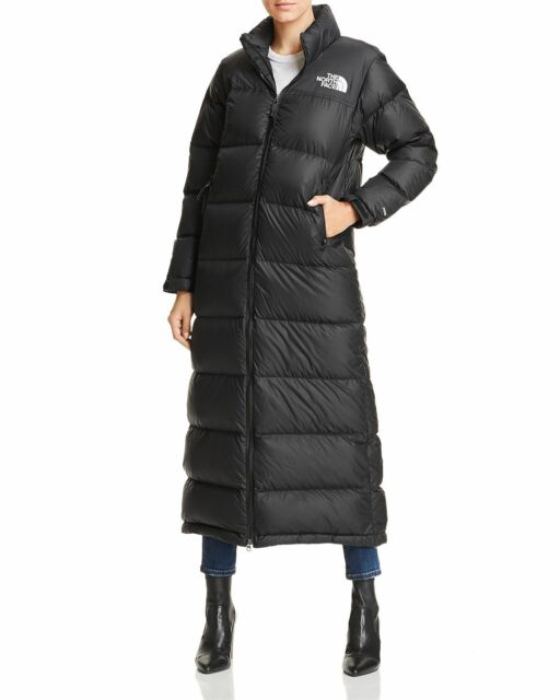280c3e377 NWT Womens The North Face Nuptse Duster Parka Jacket Medium TNF Black Down