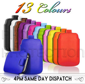Premium-PU-Leather-Pull-Tab-Pouch-Case-Cover-For-Various-LG-Mobile-Phones