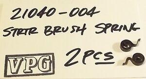 2 each KAWASAKI 21040-004 KZ 200/250/400/75<wbr/>0 KLT200  starter brush SPRING Nos