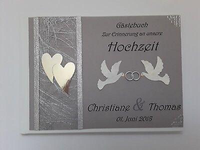 Aufrichtig Hardcover-gästebuch/fotoalbum, Hochzeit, Hochzeitsbuch, Grau-silber, Dina4 Niedriger Preis