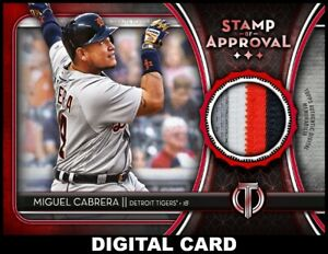 Topps-BUNT-Miguel-Cabrera-RED-STAMP-Relic-TRIBUTE-2020-Series-2-DIGITAL