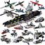 PANLOS-633003-Militaer-Serie-Flugzeugtraeger-Modell-Blocks-Bausteine-8in1-Geschenk Indexbild 2